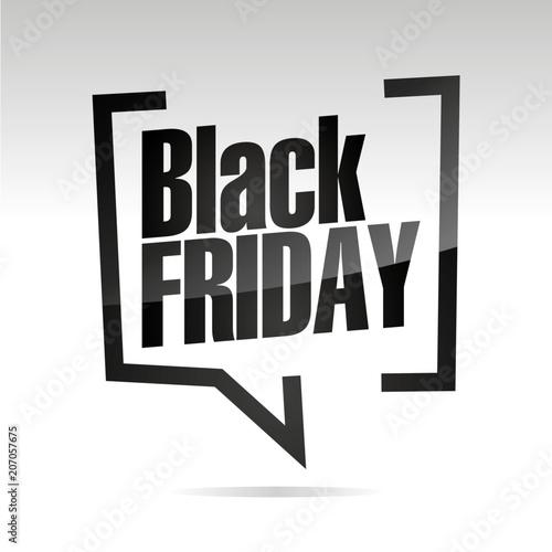 Czarny piątek w nawiasach biały czarny na białym tle ikona naklejki