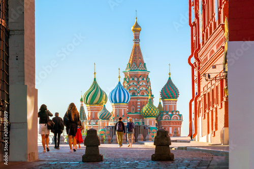Leinwanddruck Bild St. Basil's Cathedral at Red Square in Moscow