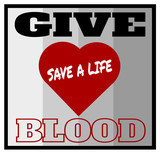 give blood save a life design - 207064202