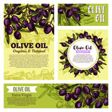 Olive oil creative banners - 207087695