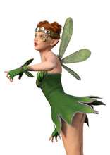 3d Rendering Spring Fairy  Sticker