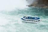 Passenger cruise ship at Niagara fall waterfall