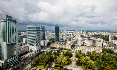 View from Palace of Culture and Science in Warsaw, Poland  © Ruslan