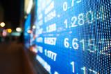 Stock market chart,Stock market data on LED display concept. - 207117085