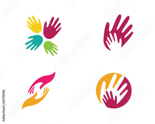 Hand Care Logo Template vector