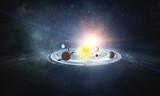 Solar system planets . Mixed media - 207121813