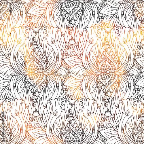 Cotton fabric Fantasy decorative ornamental seamless pattern
