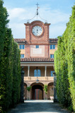 The Palazzina dell'Orologio, with dominant clock tower, was constructed in 17th-century in the historical complex of Villa Reale in Marlia, Lucca - 207124254