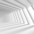 Leinwanddruck Bild - Abstract Interior Concept. White Architecture Background