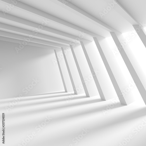 Leinwanddruck Bild Abstract Interior Concept. White Architecture Background
