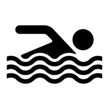 Strand Icon  Baden Erlaubt Sticker