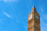 Big Ben Clock Tower in London, UK, on a bright day - 207143656