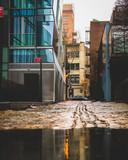 Wet Cobblestone Side Street - 207146680