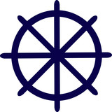 Rudder Wheel Helm Icon Design