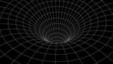 Tunnel or wormhole. Abstract Wormhole Science. 3D tunnel grid.Wireframe 3D surface tunnel.Grid texture - 207153661
