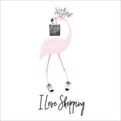 Flamingo cute print