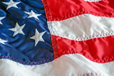 American flag background with embroidered stars - 207157815
