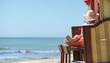 Leinwanddruck Bild - entspannter und erholsamer Strandtag