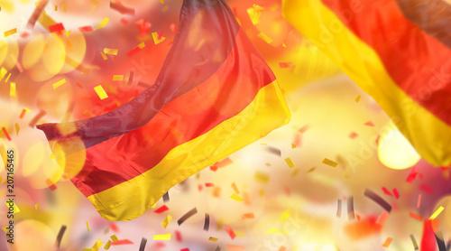 Leinwanddruck Bild Deutsche Farben Fussball Hintergrund