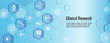 Medical Healthcare Icons with People Charting Disease / Scientific Discovery Web Header Banner