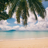 Tropical island beach. Perfect vacation background. - 207172418