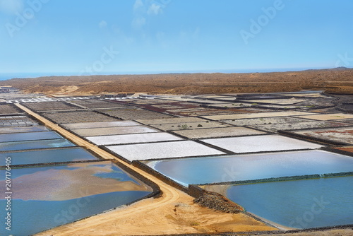 Fotobehang Canarische Eilanden sustainable saltwork in canary island