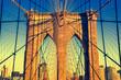 Brooklyn Bridge during the sunset