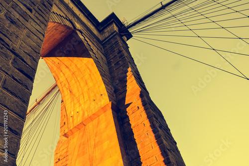 Aluminium Brooklyn Bridge Brooklyn Bridge during the sunset