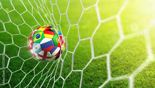 Soccer Ball In Goal - Russia 2018  © Romolo Tavani