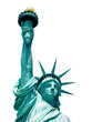 statue of liberty new york city usa isolated