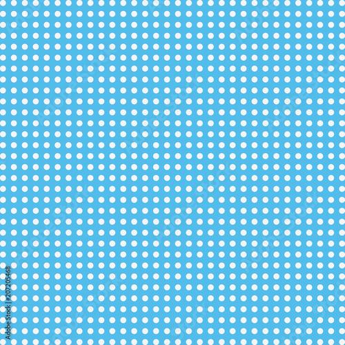 Fototapeta Dots on blue background. Vector seamless pattern.
