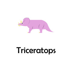 triceratops illustration. Element of travel icon for mobile concept and web apps. Thin line triceratops icon can be used for web and mobile. Premium icon