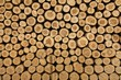 Leinwanddruck Bild - Log wood pile