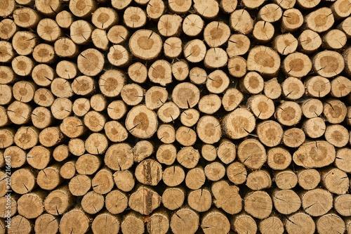 Leinwanddruck Bild Log wood pile