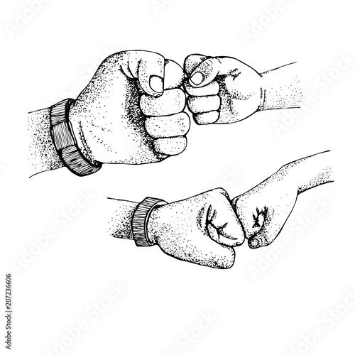 Greeting fist in fist vector illustration of a hand of a child a greeting fist in fist vector illustration of a hand of a child a m4hsunfo