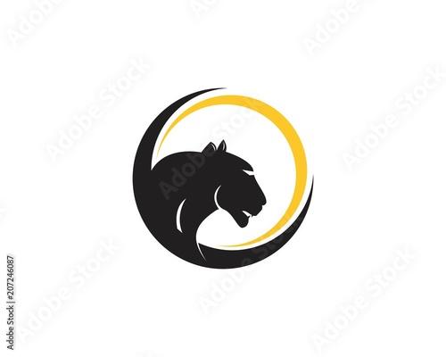 Fototapeta Puma head logo vector template