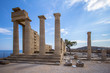 Ruins of ancient temple, Lindos, Rhodes island, Greece