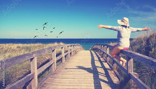 Leinwanddruck Bild Freiheit genießen