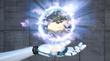 Leinwanddruck Bild - Robot Hand Earth