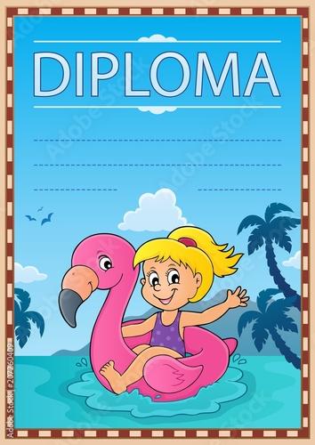 Canvas Voor kinderen Diploma template image 3