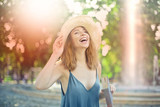 Happy woman laughing - 207269264