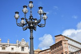 Rome. Large lamp post in St. Peter's Square.