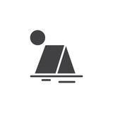 Tourist tent vector icon. filled flat sign for mobile concept and web design. Summer travel simple solid icon. Symbol, logo illustration. Pixel perfect vector graphics - 207286823