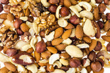 Mix of nuts on white background - 207300273