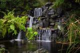 Waterfalls in a zen garden