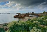 Ciel d'orage sur la Bretagne à Plougrescant