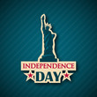 Independence day vector background. NYC, USA symbol, 4th of July.