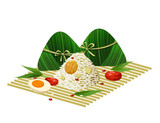 - Zongzi - traditional Chinese food for Dragon Boat Festival  - 207309612
