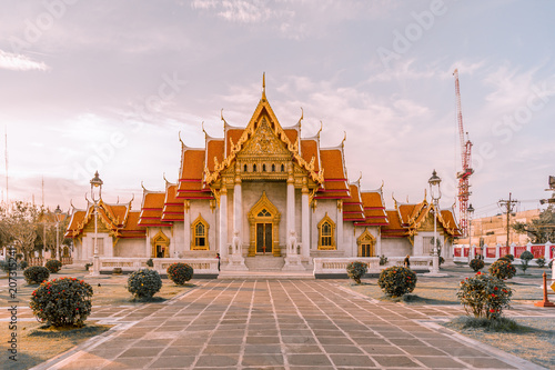 Aluminium Bangkok Marble temple one of popular temple in Thailand