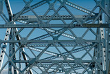 Bridge girders with blue sky - 207328048